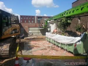 eindschoonmaak ingestort garagedak THT Sloop