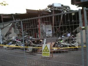 Brand winkelcentrum Stein Clevers Asbestsanering